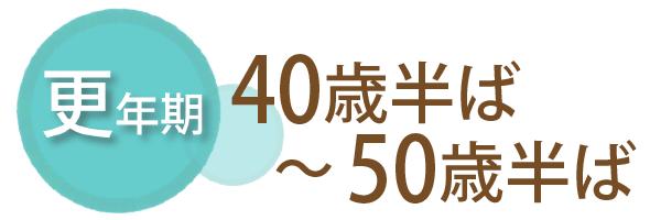 更年期、40歳半ば~50歳半ば