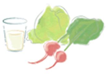 ミネラルが豊富な野菜と水