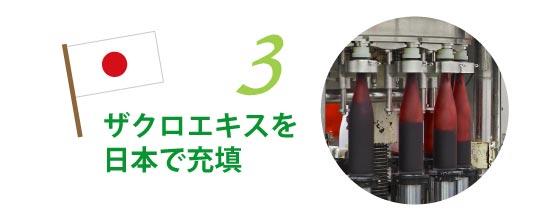 ザクロエキスを日本で充填