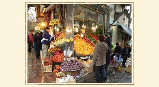 テヘラン市内の八百屋さん