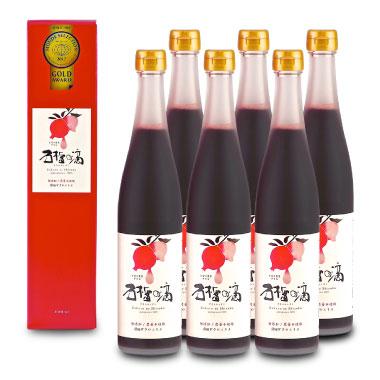 石榴の滴(ザクロのしずく)6本セット瓶タイプ(ザクロジュース・ザクロエキス)